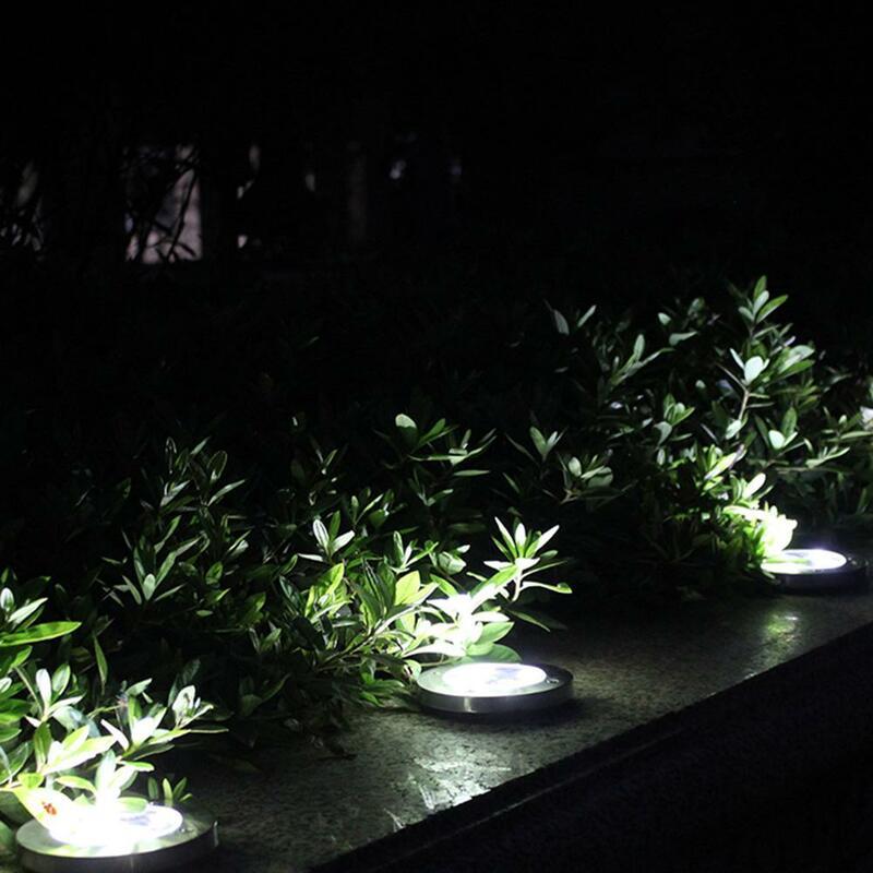 태양 정원 조명 20 LED 태양 지상 조명 방수 빛 지 하 감지 풍경 조명 잔디 통로에 대 한