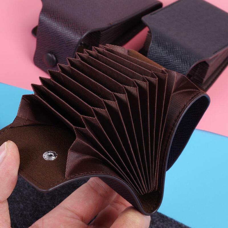 1pcs 카드 홀더 PU 가죽 패션 남여 비즈니스 ID 신용 카드 지갑 홀더 이름 카드 케이스 포켓 정리