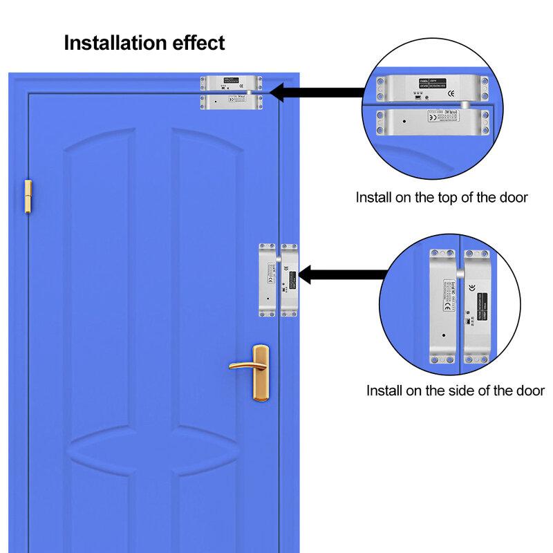 Cerradura de perno eléctrica NC a prueba de fallos, Control de acceso, cerradura electrónica de puerta de muesca con retardo de tiempo para sistema de entrada de puerta, CC de 12V