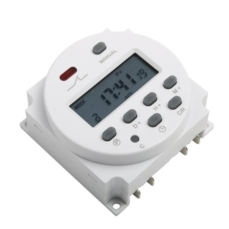 Temporizador Digital LCD de 220V, 230V, 240V, CN101A, de relé temporizador programable semanal, 7 días, 10A, CN101
