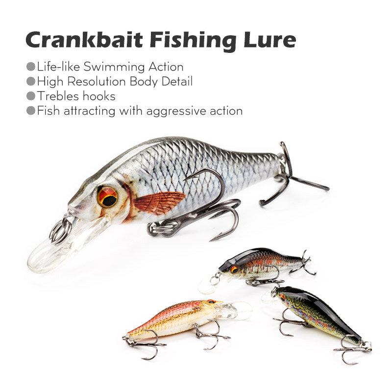 """5สี3.5 """"Bionic Fishing Lure Crankbait 10.7Gพื้นผิวที่ไม่ซ้ำกันปลาเหยื่อ3DตาBass Pikeเหยื่อตกปลาtackle Pesca MH11B"""