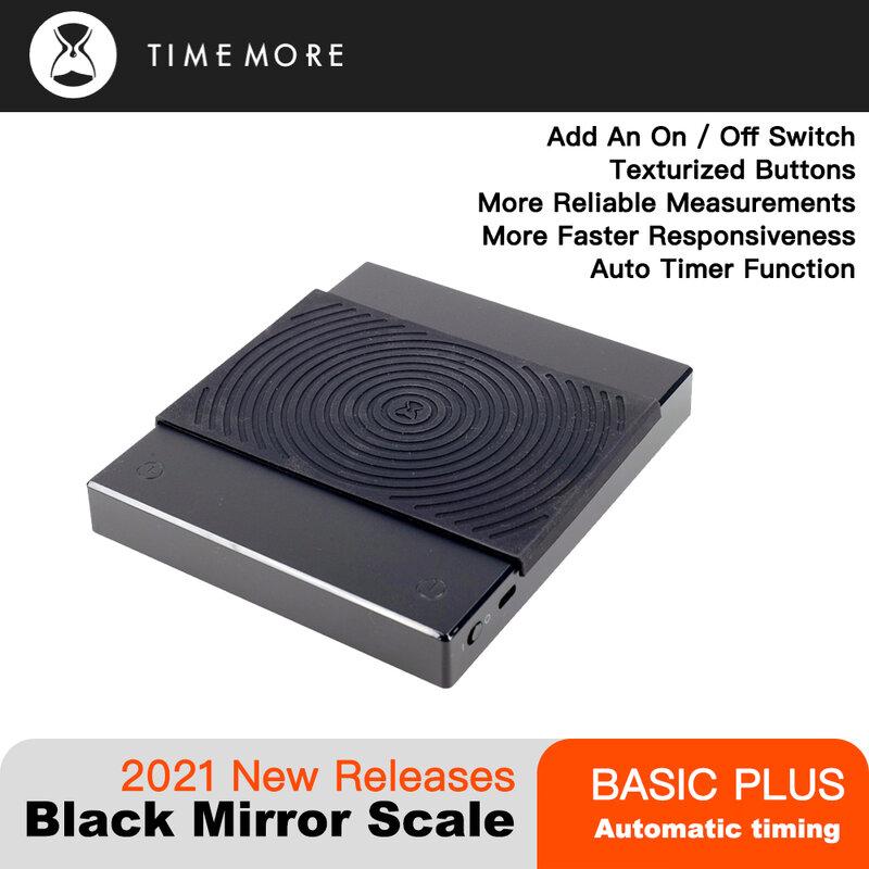 TIMEMORE 2021 Basic Plus กระจกสีดำ Pour Over Coffee และ Espresso Electronic Scale อัตโนมัติจับเวลาครัวขนาด0.1G/2กก