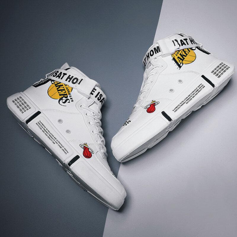 AODLEE – baskets unisexes Hip Hop, chaussures de mode Superstar imprimées, montantes, décontractées, vulcanisées, Graffiti