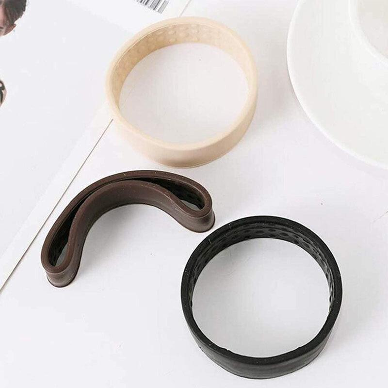 ใหม่พับแหวนผมยืดหยุ่นซิลิโคนผู้หญิงคงที่ผู้ถือหางม้าผมยืดผมผูก Multifunction O อุปกรณ์เสริมผม