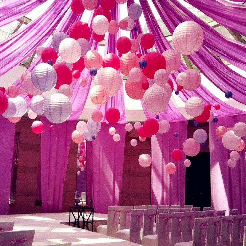 1 pc Runde Chinesische Papier Laterne Geburtstag Hochzeit Party decor geschenk handwerk DIY lampion weiß hängen laterne ball partei liefert