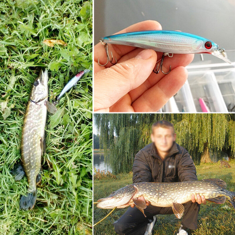 1PCS เลเซอร์ Minnow เหยื่อตกปลา 11 ซม.13G pesca ตะขอปลา wobbler crankbait ประดิษฐ์เหยื่อญี่ปุ่น swimbait