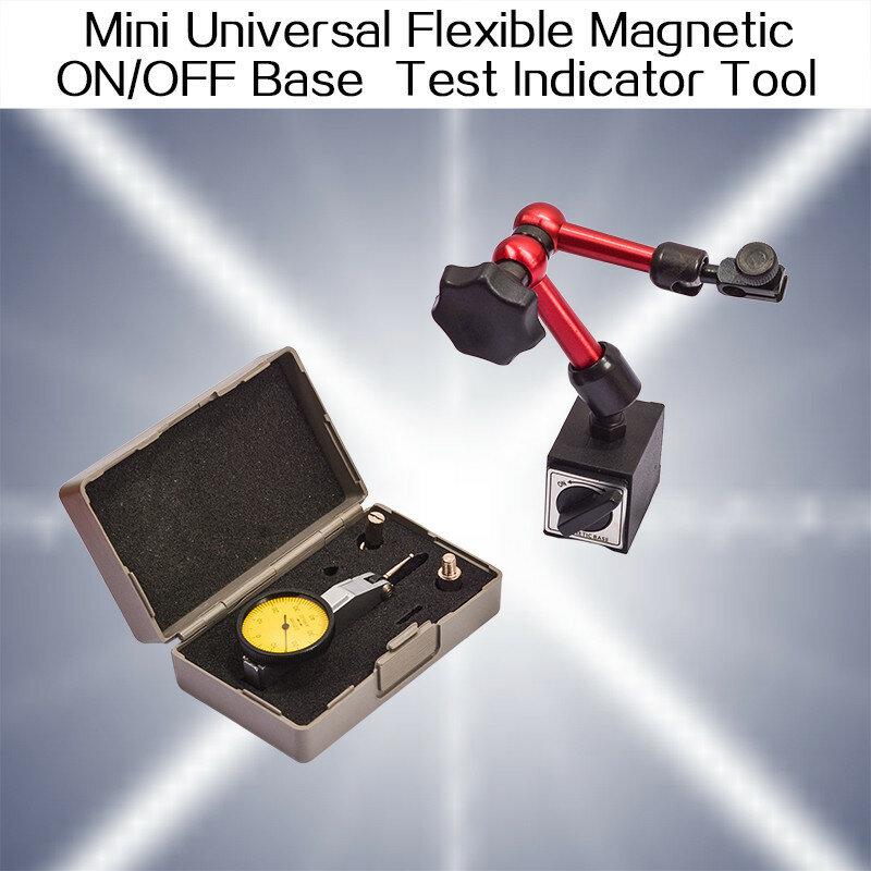 Mini Universal ยืดหยุ่นแม่เหล็ก ON/OFF Stand สำหรับ Digtal & Analog 0-0.8มม.Gauge Test Indicator เครื่องมือ