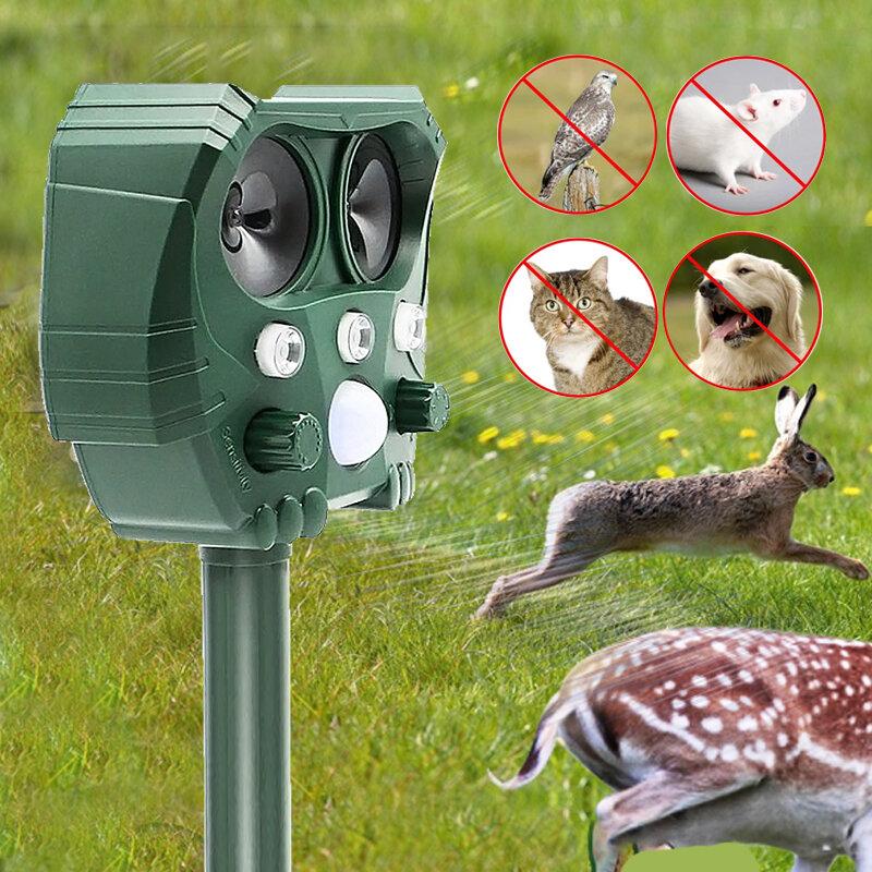 Tier Repeller Solar Power Motion Aktiviert Ultraschall Erschrecken Tier Abweisend Wiederaufladbare Abschreckung Vogel Katze Hund Repeller