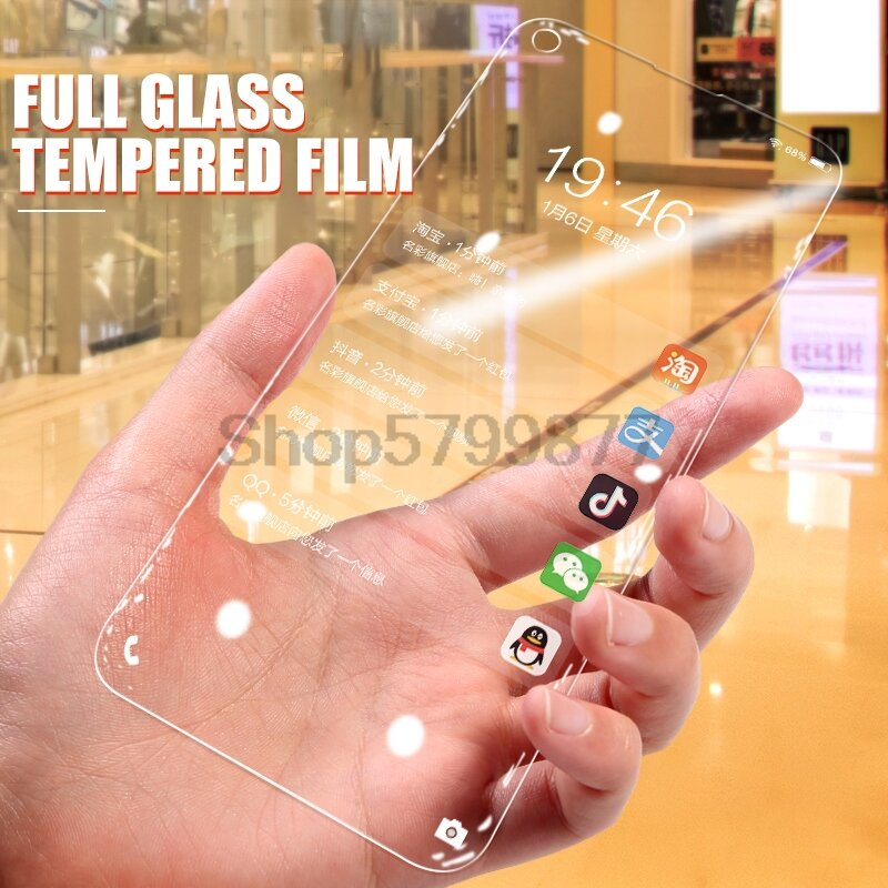 Protector de pantalla de cristal templado 9D para móvil, película de vidrio templado para Huawei honor View 20 30 20S 30S, Honor 30 20 10 Lite 10i 20i
