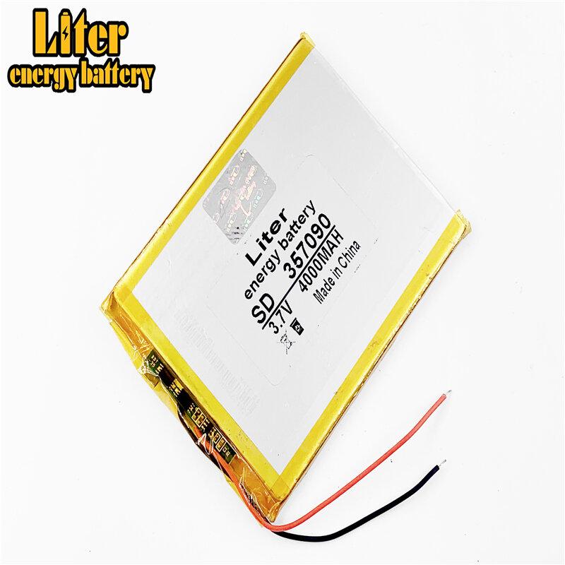 357090 3.7 فولت 4000 مللي أمبير بطارية ليثيوم بوليمر مع لوح حماية للكمبيوتر اللوحي U25GT