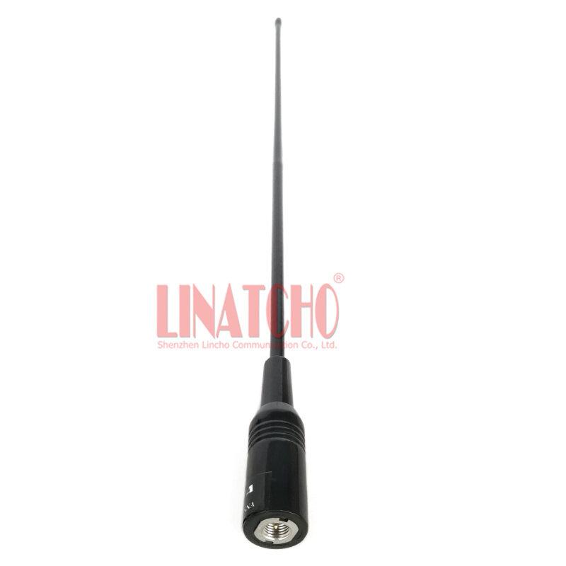 NA771 38ซม.ยาวยืดหยุ่น144Mhz 430Mhz UHF VHF Dual Band Walkie Talkie วิทยุเสาอากาศ SMA ตัวเชื่อมต่อชาย
