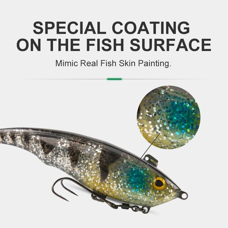 Kingdom ร้อน Crazy ปลาเทราท์เหยื่ออ่อน120มม.38G ตกปลาเหยื่อ Jigging PVC Soft Lure น้ำเค็ม Swimbaits คุณภาพสูงเหยื่อตกปลา