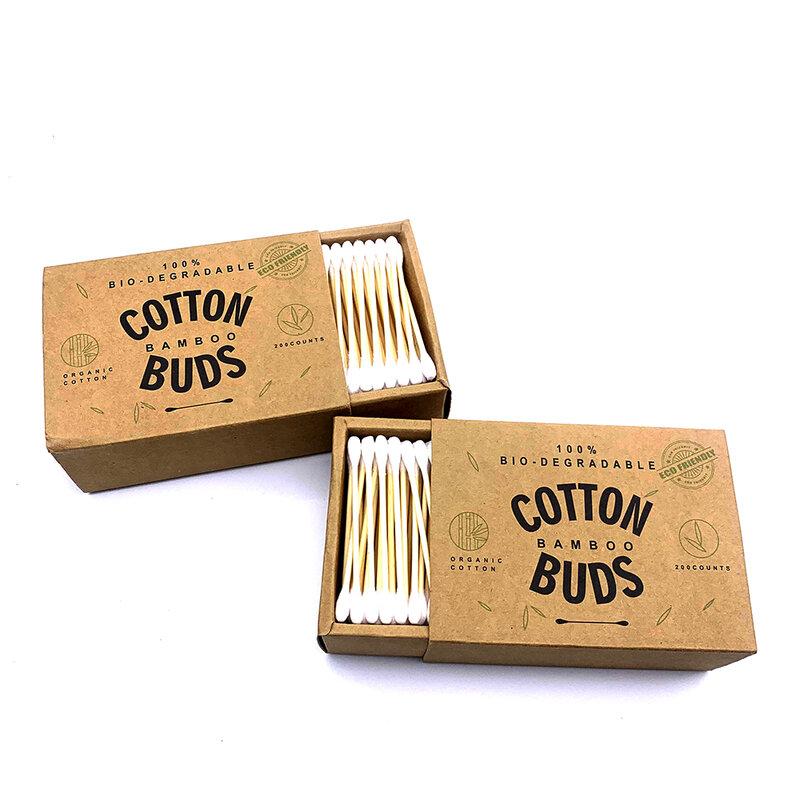 1000PCS Frauen Schönheit Make-Up Baumwolle Tupfer Doppel Kopf Baumwolle Knospen Machen Up Holz Sticks Nase Ohren Reinigung Werkzeuge Dropshipping