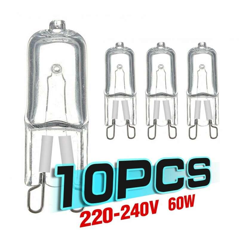 10Pcs 20W 25W 40W 60W G9 오븐 빛 고온 방지 내구성 G9 220V 230V 할로겐 전구 램프 냉장고 오븐에 대 한