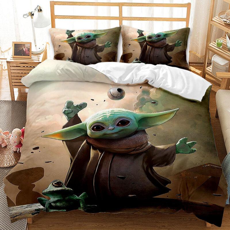 Disney Star Wars Baby Yoda Set Biancheria Da Letto 3d Tessili Per La Casa Per Bambini Regalo Singolo Queen King Set Biancheria Da Letto Copripiumino Federe Biancheria Letto
