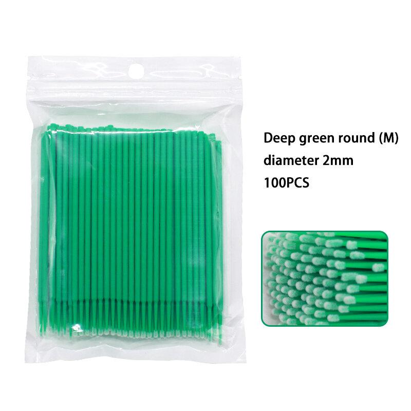 100 개/대 일회용 다채로운 목화 면봉 속눈썹 브러쉬 청소 면봉 확장 화장품 도구 메이크업 스틱 속눈썹에 대 한