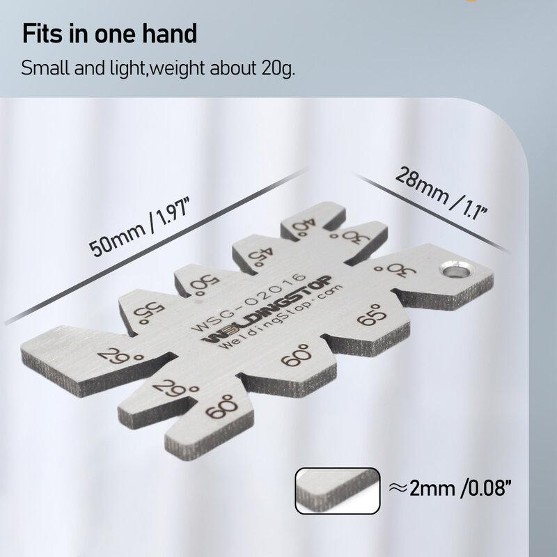 مقياس قياس زاوية قطع لولبي من الفولاذ المقاوم للصدأ, أداة قياس