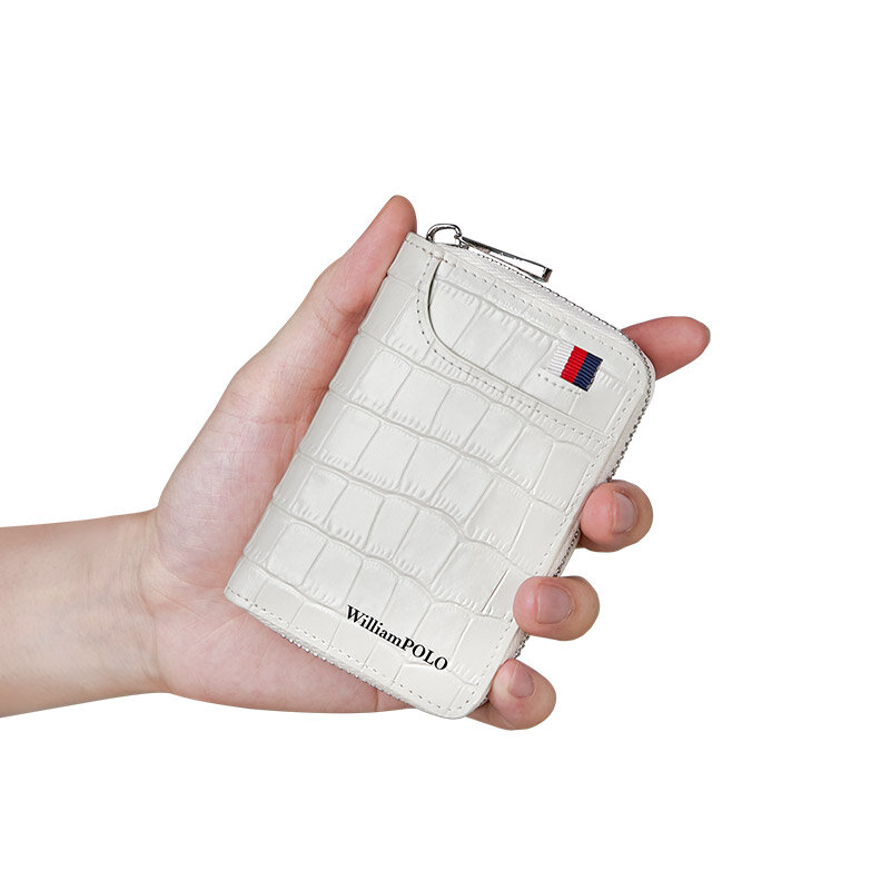 휴대용 미니 카드 가방 남성 패션 소 가죽 카드 홀더 다기능 동전 주머니 숙녀 지갑 클립