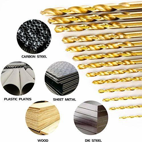 13 teile/los HSS High Speed Stahl Titan Beschichtete Bohrer Bit Set 1/4 Hex Schaft 1,5-6,5mm