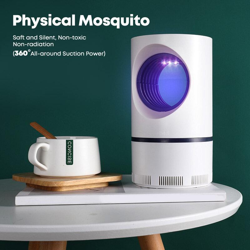 모기충 곤충 살인자 UV 광촉매 모기 트랩 침실/안뜰을위한 조용한 방사선이없는 모기 킬러 램프