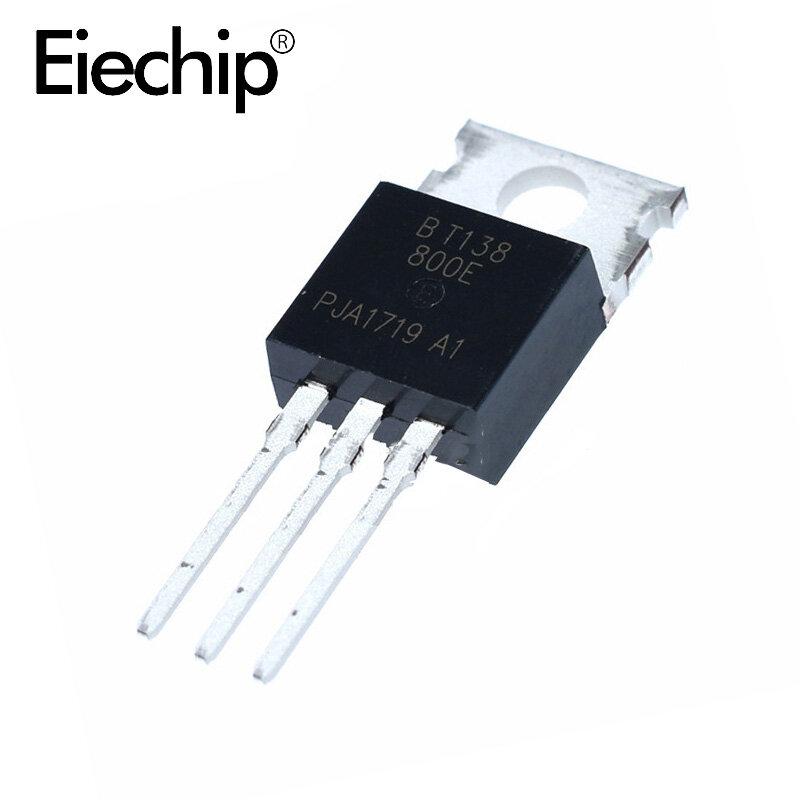 5 قطعة BT138-800E BT138-800 التيرستورات 5W 12A 800V إلى-220 جديدة ومبتكرة
