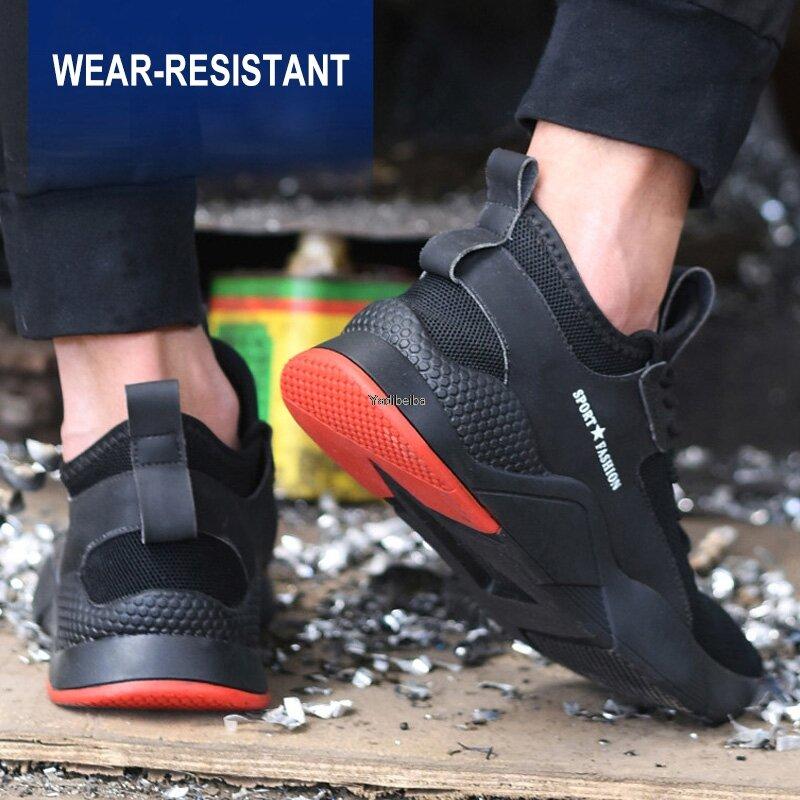 Chaussures de sécurité avec bout en acier pour homme, baskets de travail respirantes et Anti-perçage, indestructibles, nouvelle collection
