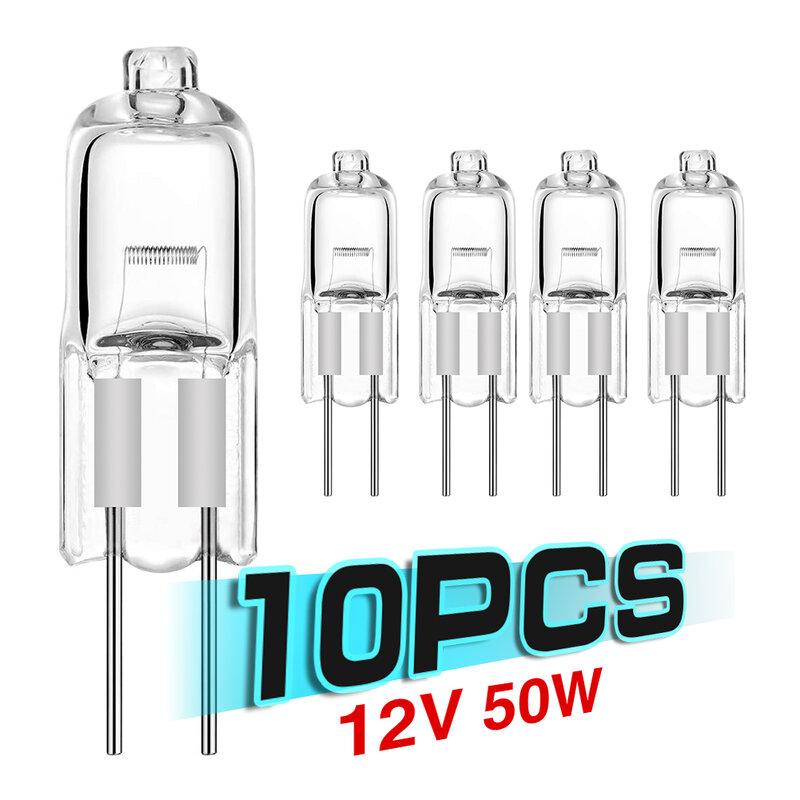 10 قطعة 12 فولت مصابيح كهربائية 5 واط/10 واط/20 واط/35 واط/50 واط G4 داخلي الإضاءة لمبات غلوب مجموعة JC LED إدراج الخرز الكريستال مصابيح لمبة الهالوجين