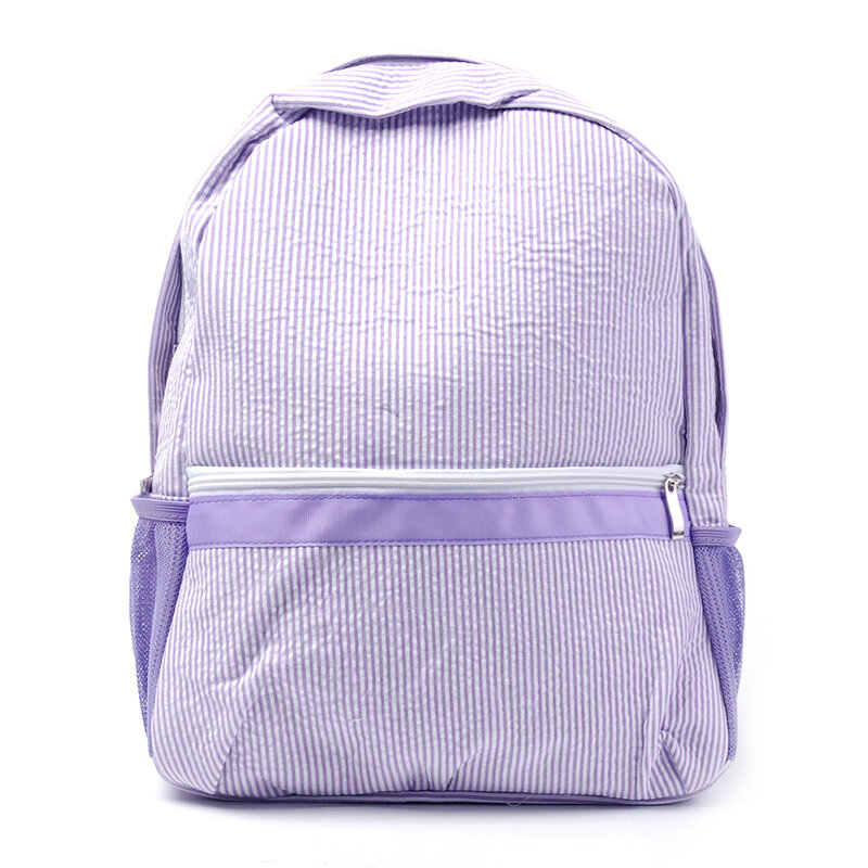 1PCS Seersucker 배낭 유치원 학교 가방 모노그램 작은 배낭 유아 책 가방 배낭 DOM112-031