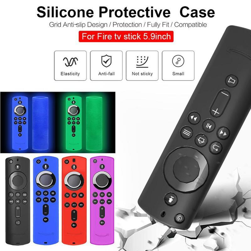 화재 TV 스틱 음성 원격 컨트롤러 Shockproof 케이스 커버에 대 한 뜨거운 실리콘 소프트 Shockproof 케이스