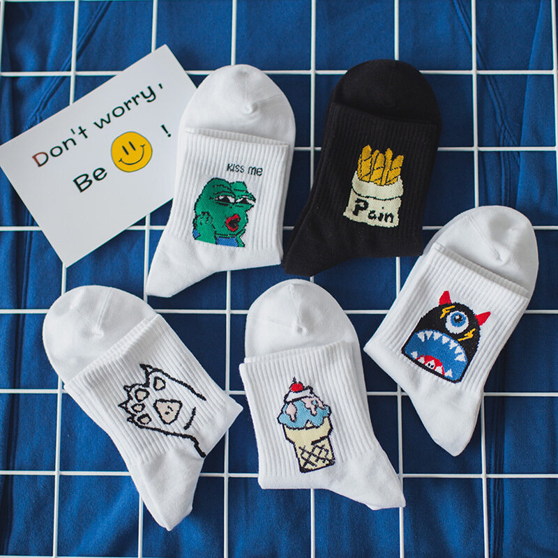 KNOWDREAM نمط جديد الصيف الجوارب موضة كوريا بطاقة جوارب الزجاج الحرير طالب السيدات الجوارب القصيرة إلكتروني موضة الجوارب تصاميم