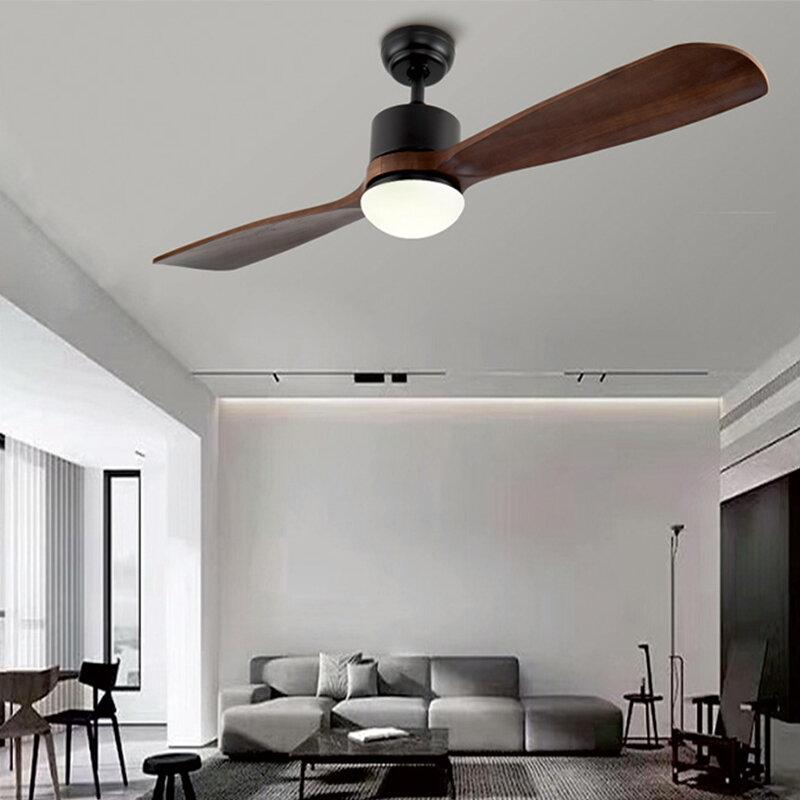 BTX 로드리스 천장 팬 램프 빛없이 나무 거실 식당 블랙 주방 카페 살롱 원격 제어 ventila 220 110V 실링팬