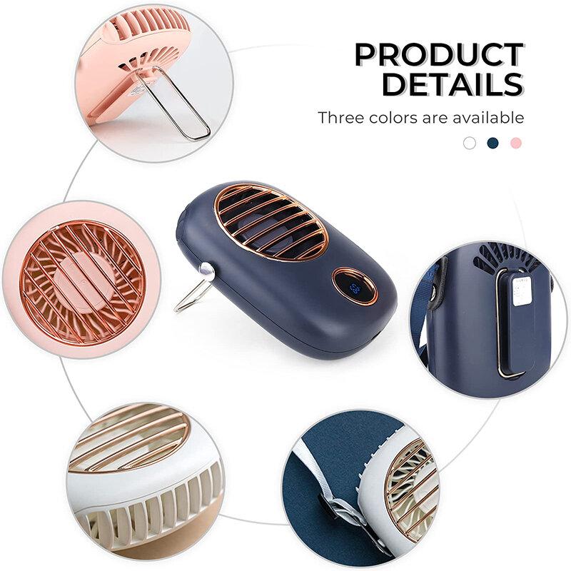 Ventilatore da collo ventilatori elettrici portatili raffreddatore ad aria raffreddamento Mini USB ricaricabile palmare esterno muto mano collo tasca Ventilador
