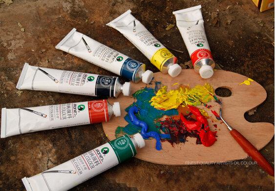 Professionalสี50มล.แต่ละหลอดน้ำมันสีสีวาดภาพวาดสีอุปกรณ์ศิลปะAOA011