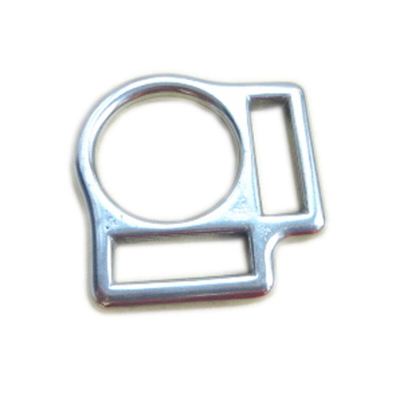 20 قطعة الفولاذ المقاوم للصدأ الحصان الرسن مربع مشبك مع 2 فتحات 2 سنتيمتر 2.7 سنتيمتر