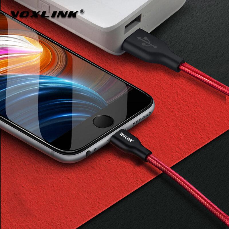 Voxlink Cavo Usb Nylon Intrecciato per Iphone X Xs Xr Veloce di Ricarica di Sincronizzazione di Dati Del Cavo Usb per Il Iphone Xs Max 8 8 Più di 7 6 6 S Ipad Mini