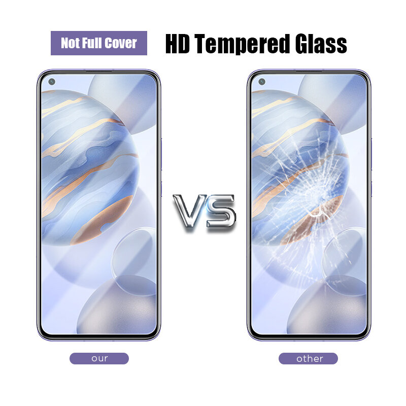 Protectores de pantalla de cristal templado para móvil, vidrio protector completo para Huawei Honor 20 10 9 Lite, Honor V 10 20 30 Pro 8X 9X 9S 20i 10i, 4 Uds.