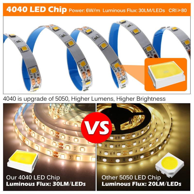 สินค้าใหม่ LED Strip 4040อัพเกรด5050 DC12V 60LEDs/M 6วัตต์/เมตร LED RGB 5050 LED Strip 300LEDs 5เมตร/ล็อต