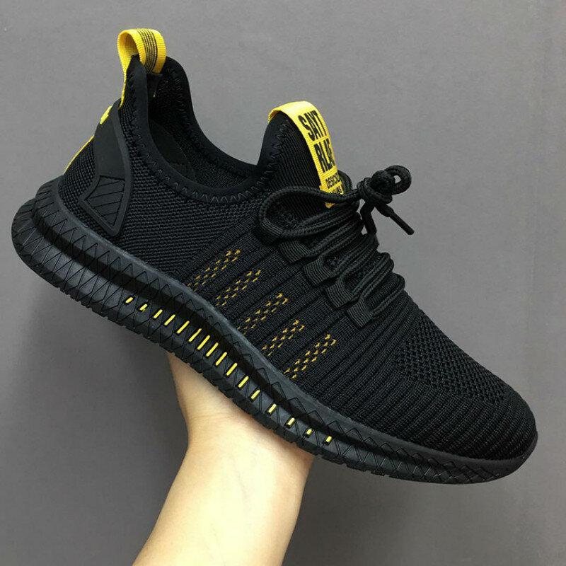 Baskets légères en maille vulcanisées pour homme, chaussures de marche à la mode, décontractées
