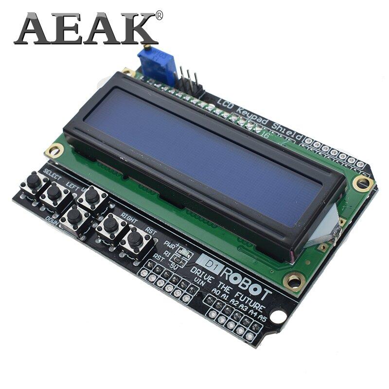 AEAK 1PCS LCD Tastatur Schild LCD1602 LCD 1602 Modul Display Für Arduino ATMEGA328 ATMEGA2560 raspberry pi UNO blauen bildschirm