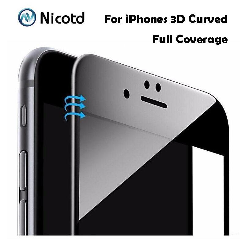 9H 0,26mm Glänzend 3D Gebogene Carbon Faser Weiche Kante Gehärtetem Glas Für iPhone 6 6S Plus Telefon screen Protector Film Für iPhone 7
