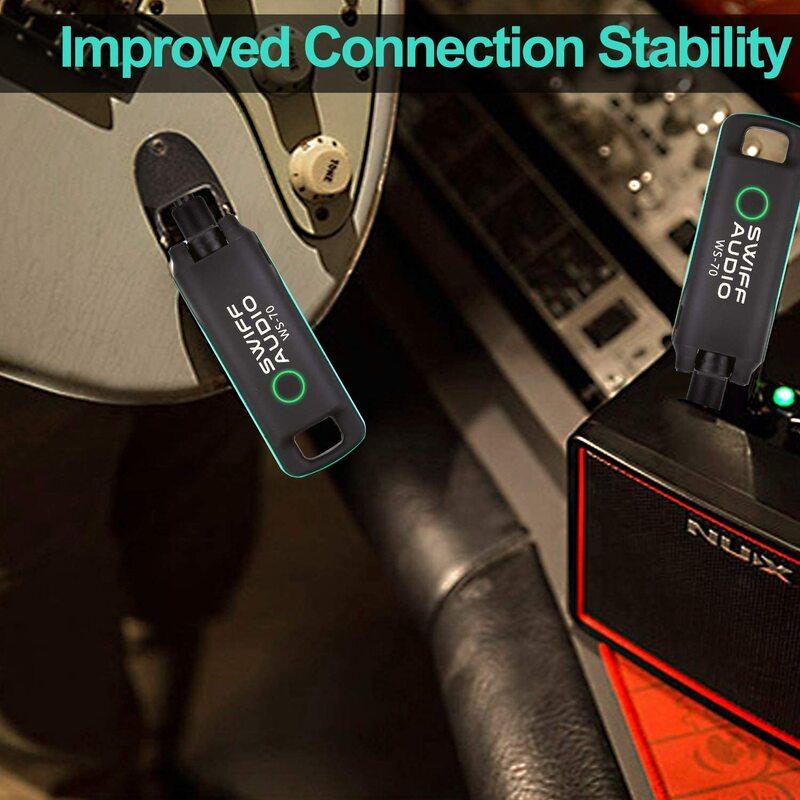 SWIFF WS-70 I กีตาร์เครื่องส่งสัญญาณและตัวรับสัญญาณไร้สาย-Low-Latency และ Audio Reproduction