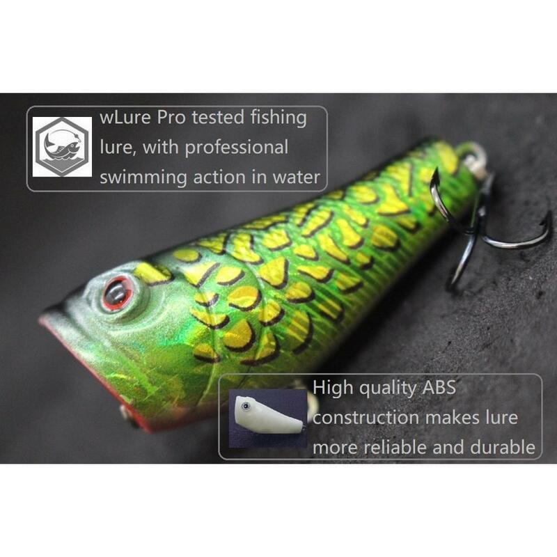 กะพริบ 5.1 ซม.7.8g ขนาดเล็ก Popper สีแดงปาก Twitch Lure #8 Hooks Assort สี Topwater ตกปลา Lure T620