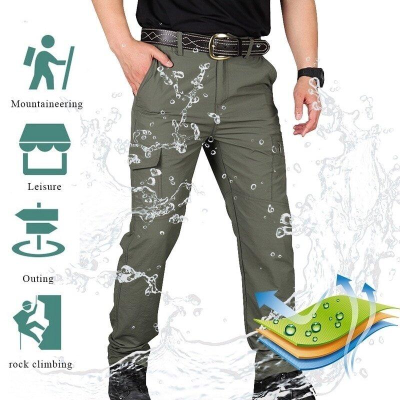 Pantalones Tacticos Impermeables Para Hombre Pantalones Militares De Algodon Multibolsillo Transpirables De Combate Swat Pantalones