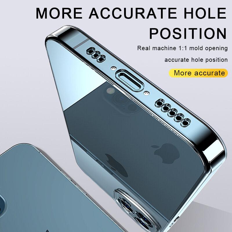 حافظة لهاتف آيفون 11 12 برو ماكس XS ماكس XR X 12 حافظة صغيرة لهاتف آيفون 6 6s 7 8 plus SE 2020 غلاف خلفي 13 شفاف