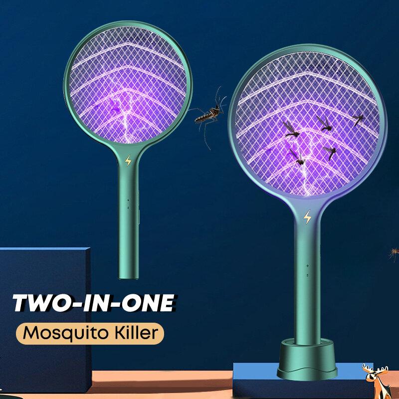 Elektrische Moskito Mörder UV Licht Fliegen Klatsche Moskito Trapper USB Aufladbare Bug Zapper Insekten Schläger Klatsche Bug Zapper
