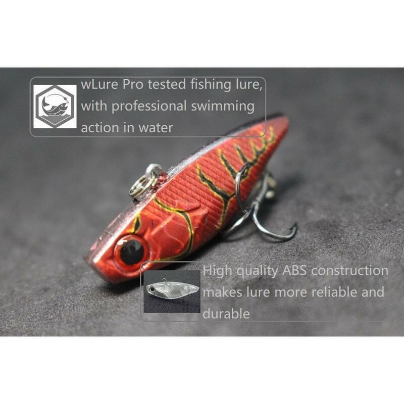 WLure 4cm 4.6g Tiny Lipless Hard Lure ปลาคาร์พตกปลาเหยื่อตกปลา TAIL Hook Sinking ด้านล่าง Lure ตกปลา L666