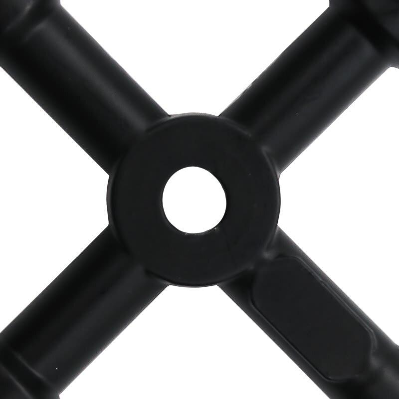 QSTEXPRESS 1 قطعة مفتاح مثلث متعدد الأغراض مفتاح القطار الكهربائي مصعد خزانة صمام سبائك مثلث مربع