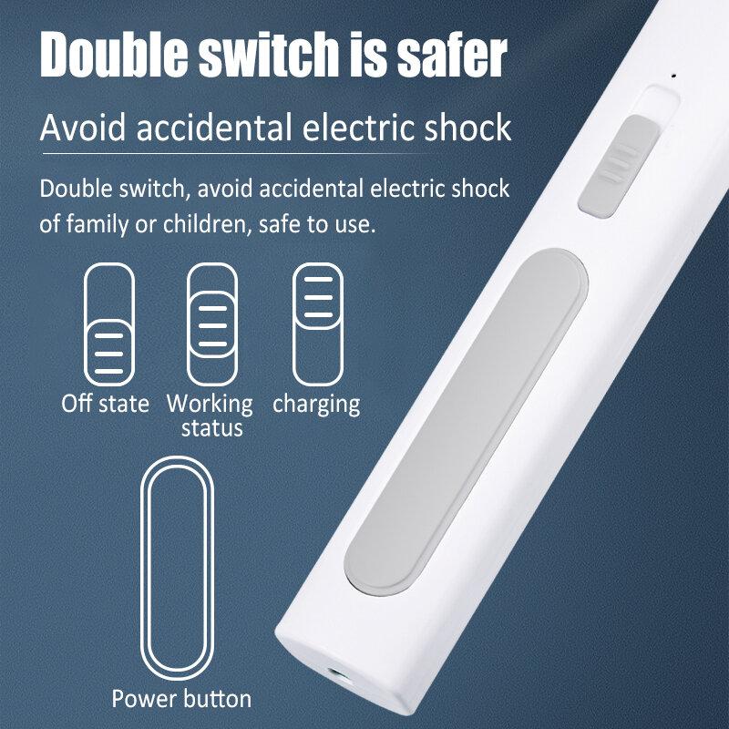 2 1 LED 트랩 모기 킬러 램프 전기 버그 Zapper USB 충전식 라이트 여름 비행 찰싹 때리는 함정 파리 곤충 구충제